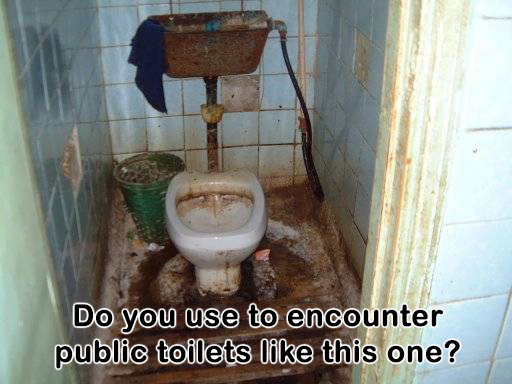 dirty public toilet