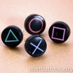 Playstation Button Earrings