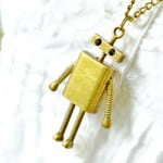 Antique Robot Necklace