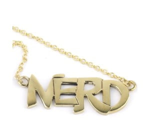 Vintage Gold Plated Nerd Neckalace
