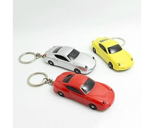 Car Shaped Keychain with LED Light