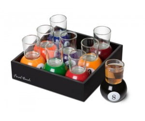 8 Pool Shot Glasses