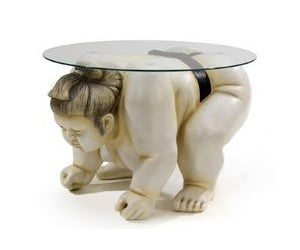 Sumo Wrestler Sculpture Table