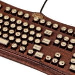 The Diviner Wooden Steampunk Keyboard