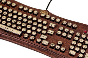 Steampunk keyboard thumb