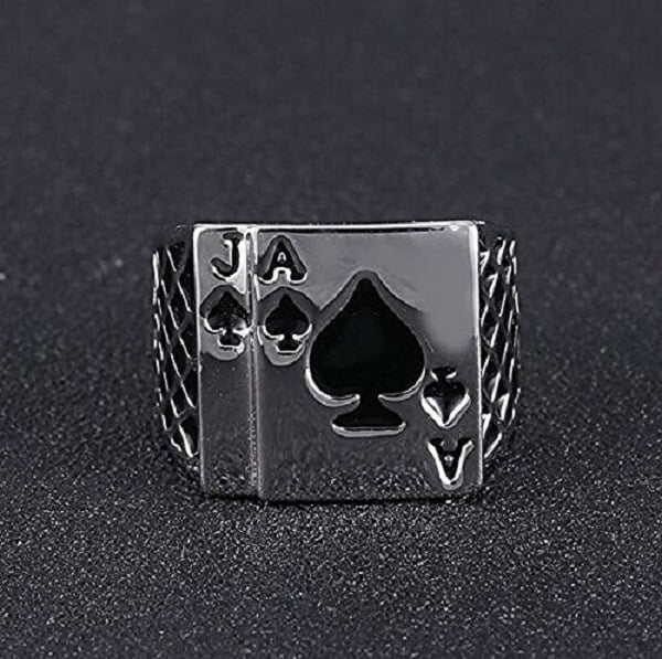 Black Jack Spades Cool Ring