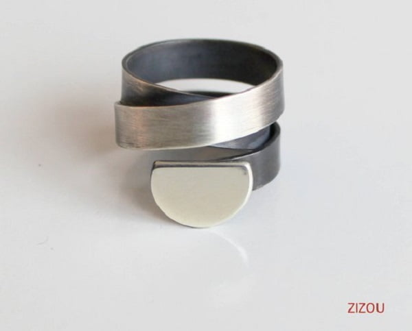 Wide Band Silver Cool Ring