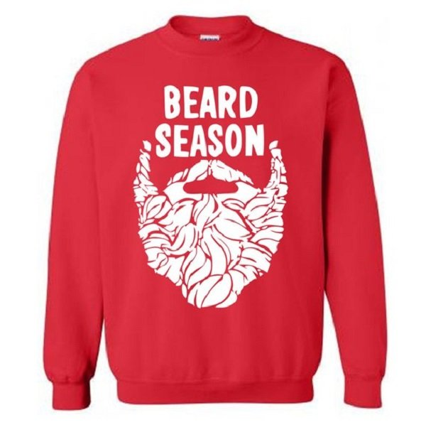 Beard Season Funny Christmas Sweater