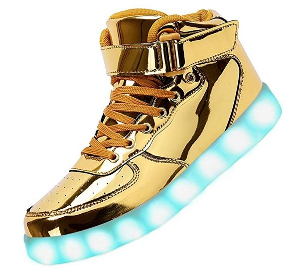 LED Light-Up Hight-Top Sneakers