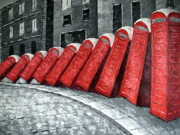 Cool London Telephone Box Painting