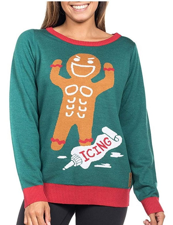 Gingerbread Man Roid Rage Funny Christmas Sweater