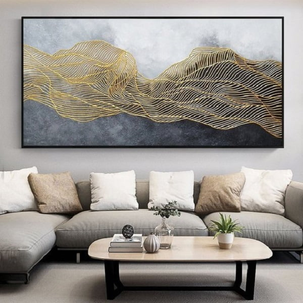 Cool Gold Geometry Painting