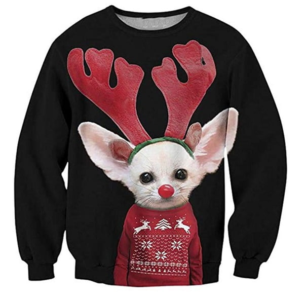 Puppy Rudolph Funny Christmas Sweater