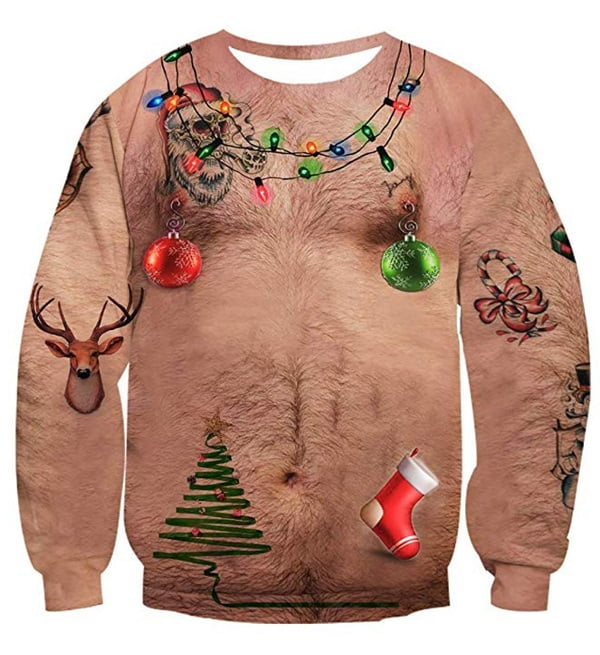 Ugly Hairy Body Christmas Sweater