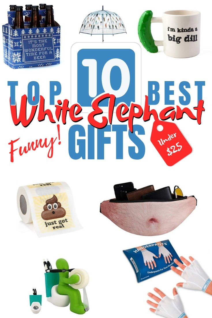 With the White Elephant gift exchange coming up get ready with the funniest and coolest gifts. Here are the top 10 gifts under $25! #giftideas #whiteelephantgifts #secretsanta