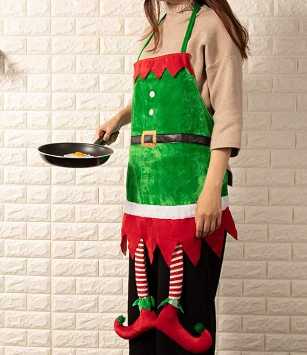 Funny Elf Apron Gag Gift