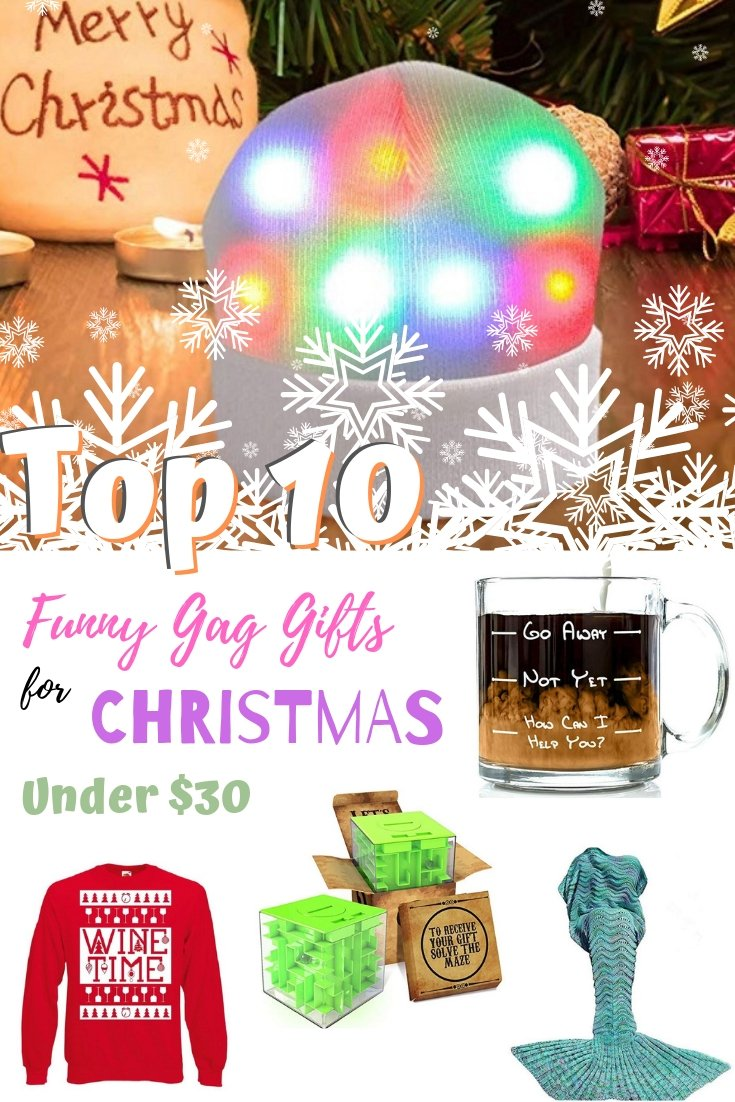 Want to surprise someone with a funny gag gift for Christmas? You don't have to spend more than $30 on one of these top 10 gifts! #giftideas #gifts #holidays #holidayshopping