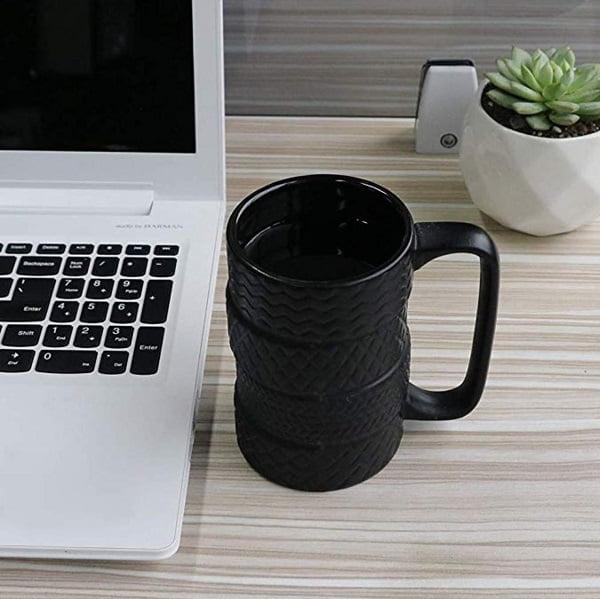 Tire Stack Coffee Mug #giftideas #giftsforhim