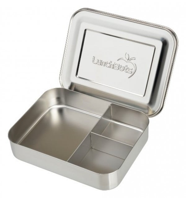 LunchBots Bento Trio Large Stainless Steel Food Container #lunchbox #gifts #giftideas