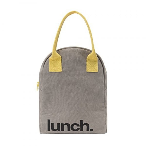 Fluf Zipper Lunch Bag, Organic Cotton (Grey 'lunch') #lunchbox #gifts #giftideas