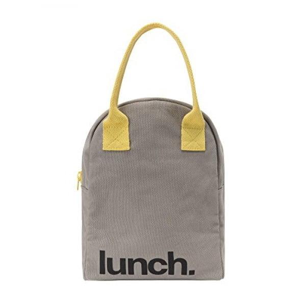 Fluf Zipper Lunch Bag, Organic Cotton (Grey 'lunch') #lunchbox #gifts #giftideas
