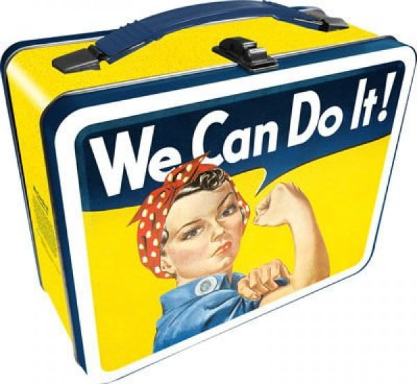 Aquarius Smithsonian Rosie The Riveter Gen 2 Tin Storage Fun Box #lunchbox #gifts #giftideas