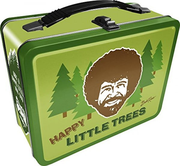 Aquarius Bob Ross Happy Tree Large Gen 2 Tin Storage Fun Box #lunchbox #gifts #giftideas