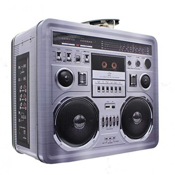 Retro Boombox Radio Lunchbox Tin Tote #lunchbox #gifts #giftideas