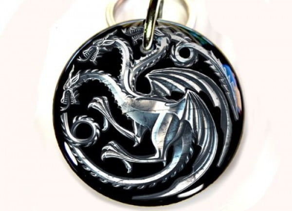 "Game of Thrones Pet ID Tag Dog Tag targaryen dragon (Small 1.00"") #gameofthrones #gifts #giftideas"