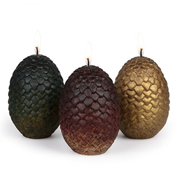 Game of Thrones Sculpted Dragon Egg Candles, Set of 3 #gameofthrones #gifts #giftideas