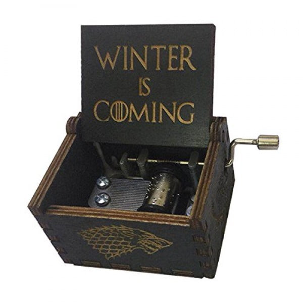 Game of Thrones Music Box Hand Crank Musical Box Carved Wooden,Play The Theme Song of Game of Thrones,Black #gameofthrones #gifts #giftideas