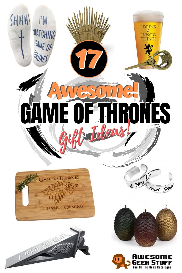 A fan of Game of Thrones? Or do you know who loves the show? These are the best gifts for you. Great list! #giftideas #gameofthrones #gifts