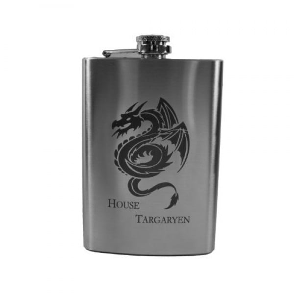 8oz House Targaryen Flask L1 #gameofthrones #gifts #giftideas