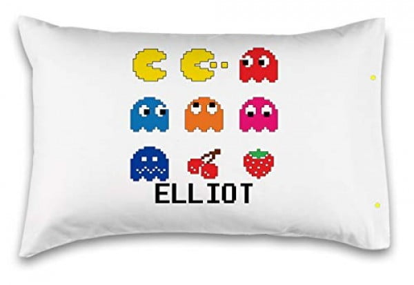 "Customizable,""Pac-Man Arcade"" Pillowcase. Personalized With Your Child's Name #pacman #geek #giftideas #gifts"