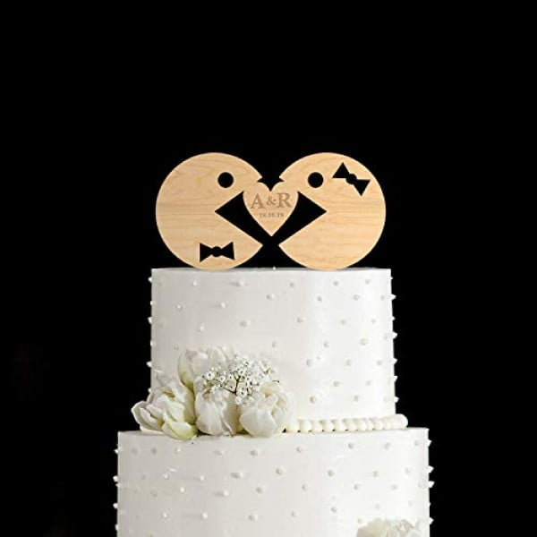 Pacman weddingpacman cake topperpacman wedding cake topperwedding cake toppercake topper weddingcake toppers for wedding #pacman #geek #giftideas #gifts