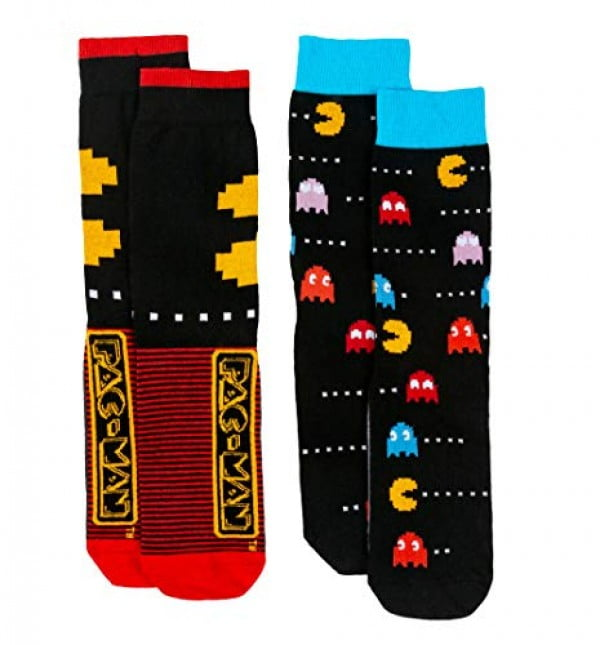 Mens 2pk Pac Man Socks #pacman #geek #giftideas #gifts