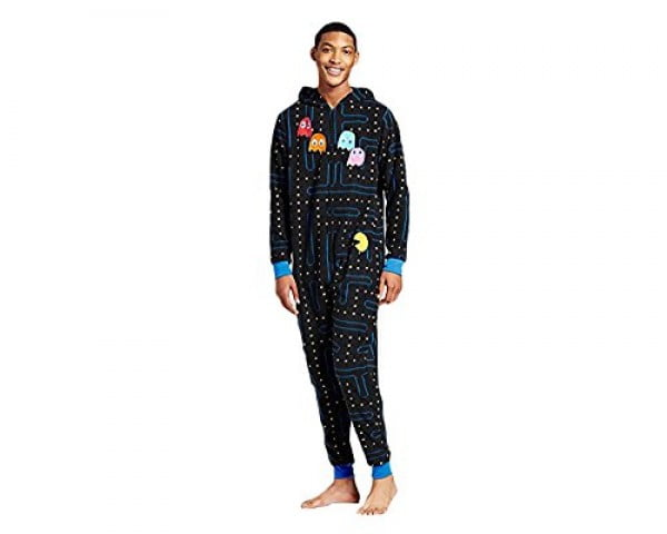 Pacman Gamer Adult Novelty Hooded Onesie Pajama with Detachable Pieces (X-Large) #pacman #geek #giftideas #gifts