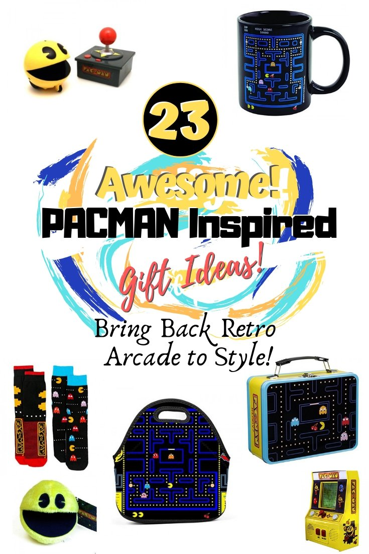 Gifts for the geek in your life (or is it you). Pacman inspired retro arcade gift ideas that are cool. Great ideas! #gifts #pacman #giftideas