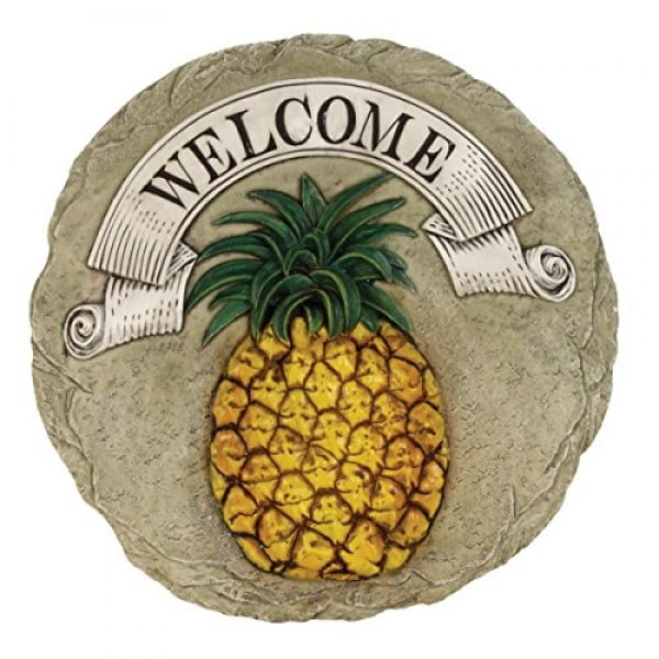 Spoontiques Pineapple Welcome Stepping Stone #pineapple #gifts #giftideas