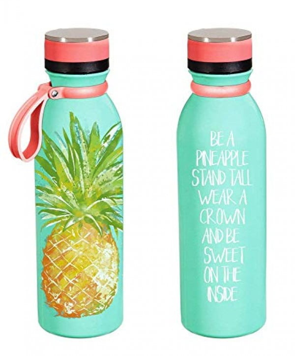 Cypress Home Pineapple Stainless Steel Water Bottle, 20 ounces #pineapple #gifts #giftideas