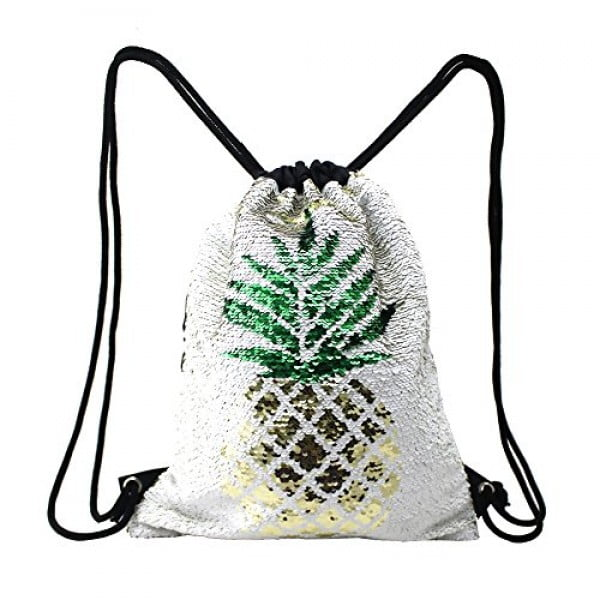 Fandicto Mermaid Sequin Drawstring Bags Unicorn Pineapple Bags for Girls Women Party Supplies #pineapple #gifts #giftideas
