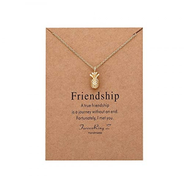 ForeveRing Z Pineapple Pendant Necklace Fruit Necklace Women Jewelry Message Card Necklace #pineapple #gifts #giftideas