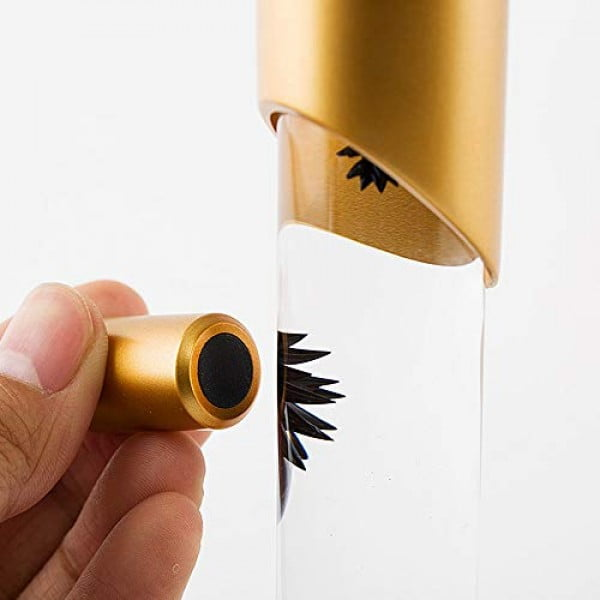 Mokiki Scientific Ferrofluid in a Bottle Magnetic Liquid Spikes Display Stress Relief Ferrofluid Desk Toy for ADHD Adult Teens (Gold) #stressrelief #toys #gifts #giftideas