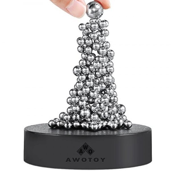 G-WACK Stress Relief Desk Toys, SPOLEY Desk Sculpture Decor Fidget Toy for Anxiety, Autism, Boredom and Intelligence Development ( 171+50 Balls with Base ) #giftideas #gifts #stressrelief #toys