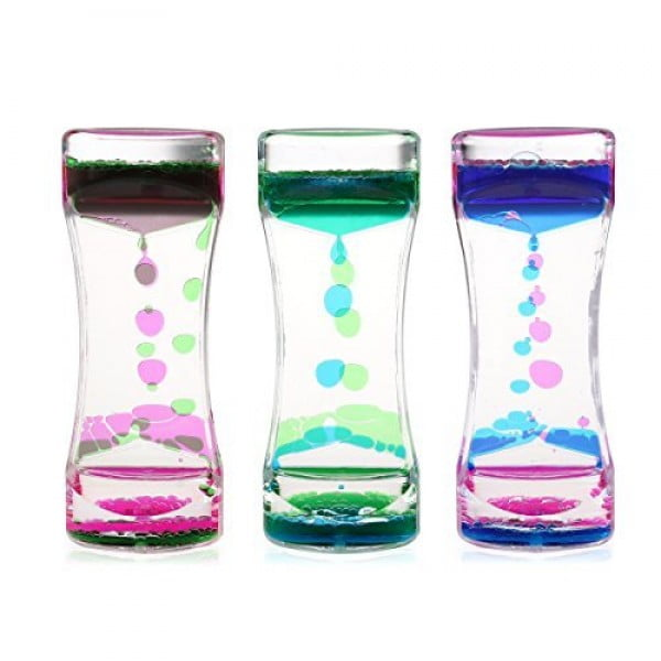 BESTOMZ 3 Pack Liquid Motion Timer Bubbler for Sensory Play, Fidget Toy #giftideas #gifts #stressrelief #toys