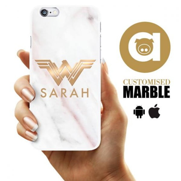 Marble Phone Case -White/Pink Marble Customised 5 5S SE iPhone Case #wonderwoman #geek #comics #gifts #giftideas