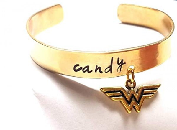 Wonder Woman Bracelet Personalized Cuff Expandable Stainless Steel Personalized Bracelet Customized Super hero Bracelet, Personalized Gift, Gold Silver, DC Comics Justice League #wonderwoman #geek #comics #gifts #giftideas