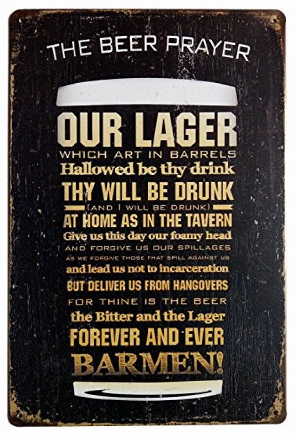 ERLOOD The Beer Prayer Tin Signs Vintage Retro Wall Retro Metal Bar Pub Poster #beer #posters #gifts #giftideas #coolstuff
