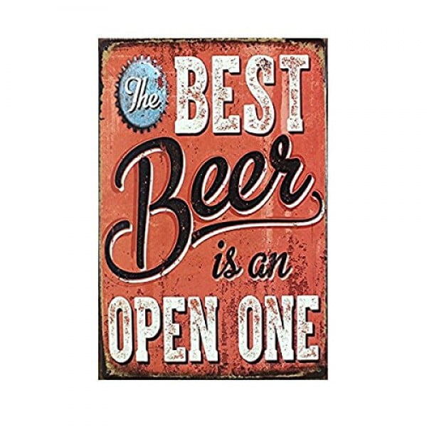 "ROSENICE Metal Sign Tin Poster Beer Theme Vintage Sign Tavern Bar Pub Shop Retro 12"" X 8"" #beer #posters #gifts #giftideas #coolstuff"