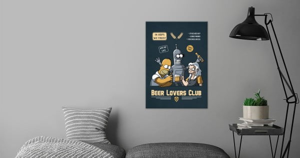Beer lovers club by LeDuc Olivier #beer #posters #gifts #giftideas #coolstuff